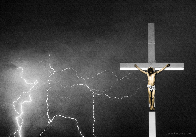 Crucifixion lightning