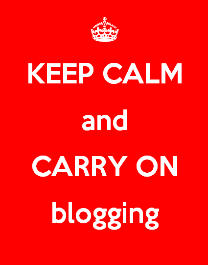 Carry on blogging
